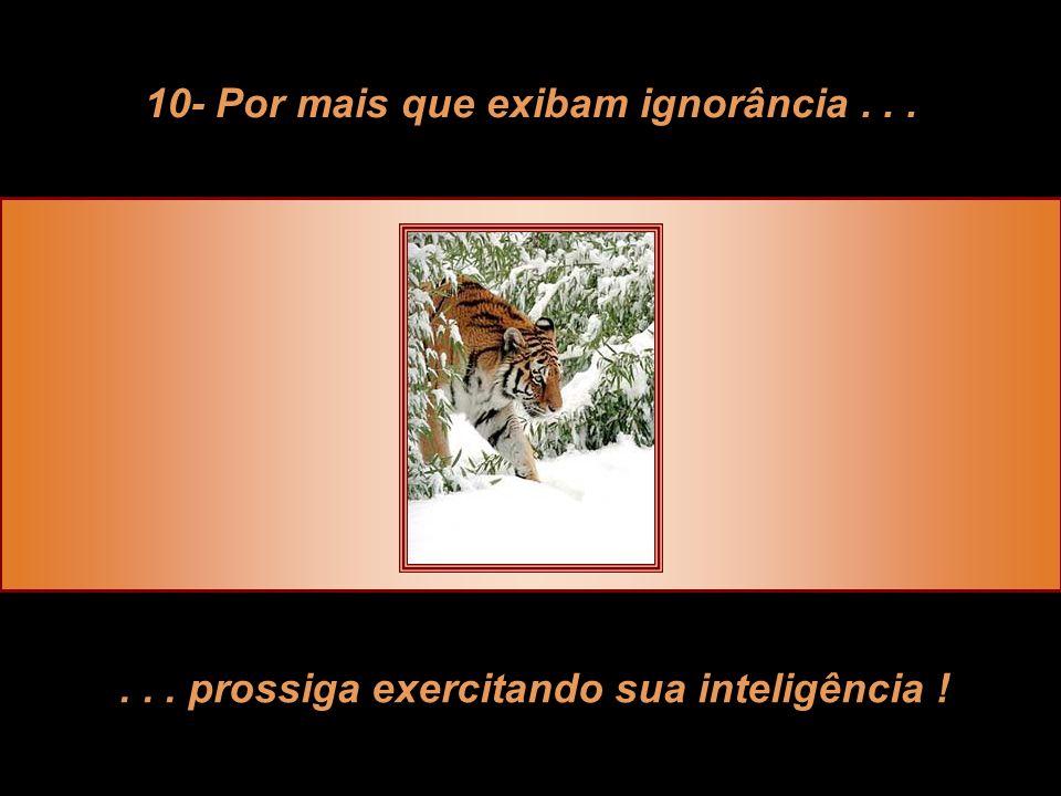 10- Por mais que exibam ignorância . . .