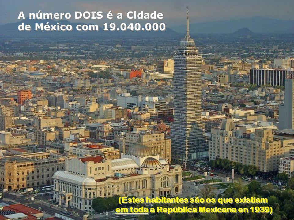 A número DOIS é a Cidade de México com 19.040.000