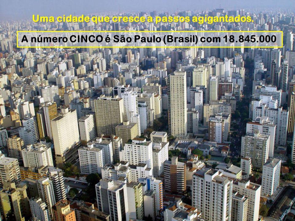 A número CINCO é São Paulo (Brasil) com 18.845.000