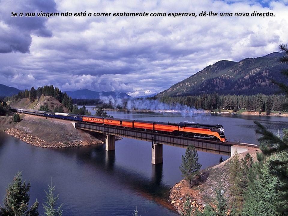 Se a sua viagem não está a correr exatamente como esperava, dê-lhe uma nova direção.
