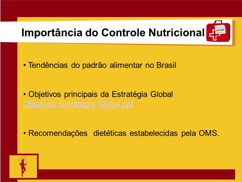 Importância do Controle Nutricional
