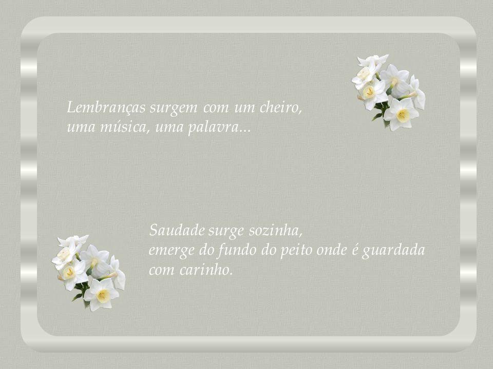 Lembranças surgem com um cheiro, uma música, uma palavra...