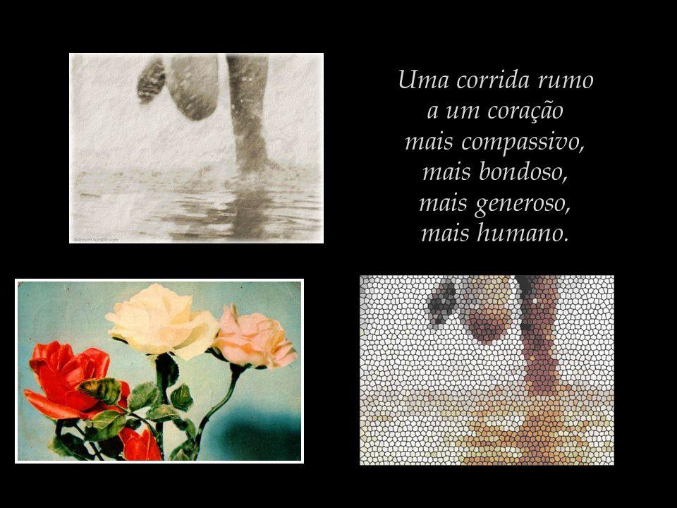 Uma corrida rumo a um coração mais compassivo, mais bondoso, mais generoso, mais humano.