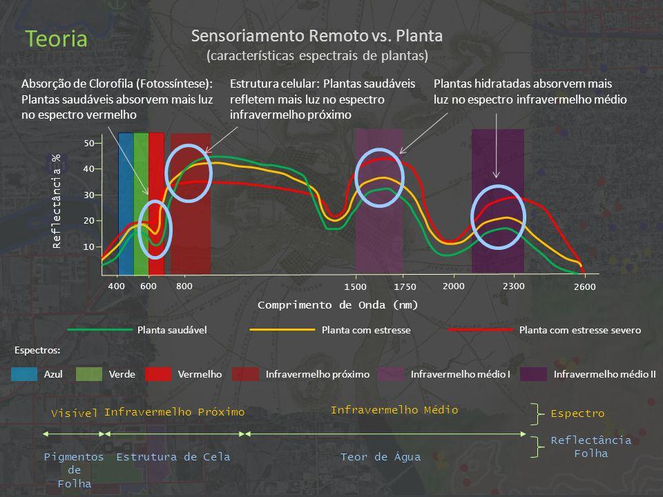 Teoria Sensoriamento Remoto vs. Planta