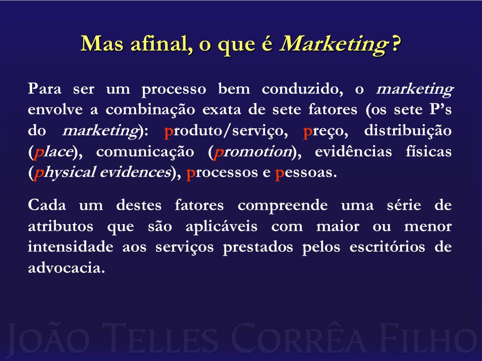 Mas afinal, o que é Marketing
