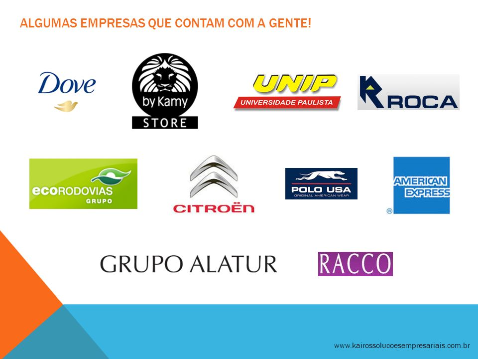 algumas Empresas que contam com a gente!