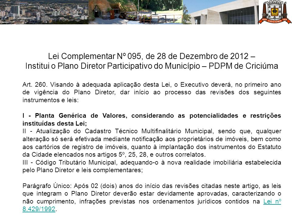 Lei Complementar Nº 095, de 28 de Dezembro de 2012 –