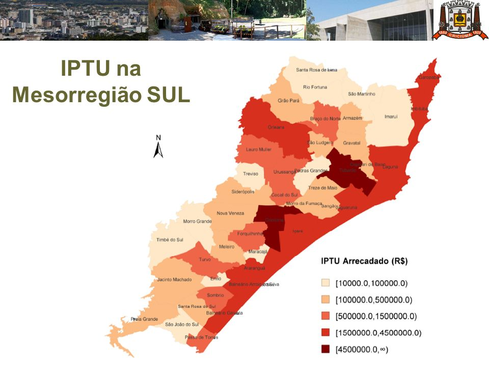 IPTU na Mesorregião SUL