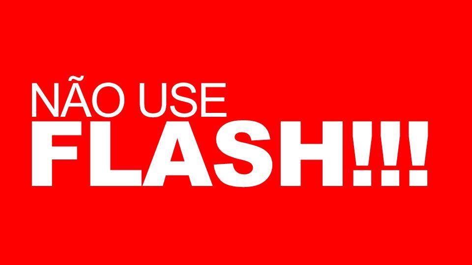 NÃO USE FLASH!!!