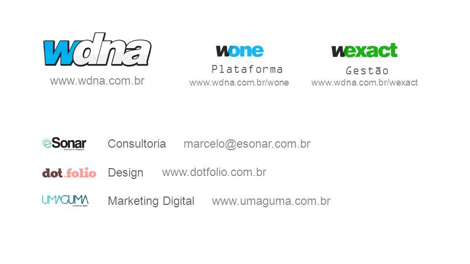 Plataforma Gestão www.wdna.com.br Consultoria marcelo@esonar.com.br