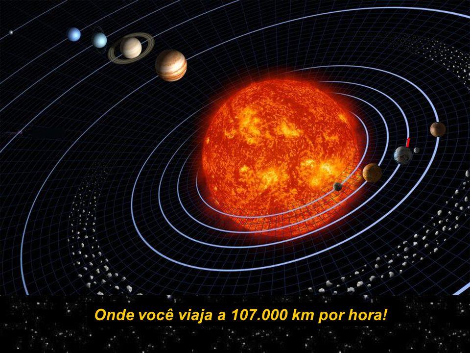 Onde você viaja a 107.000 km por hora!