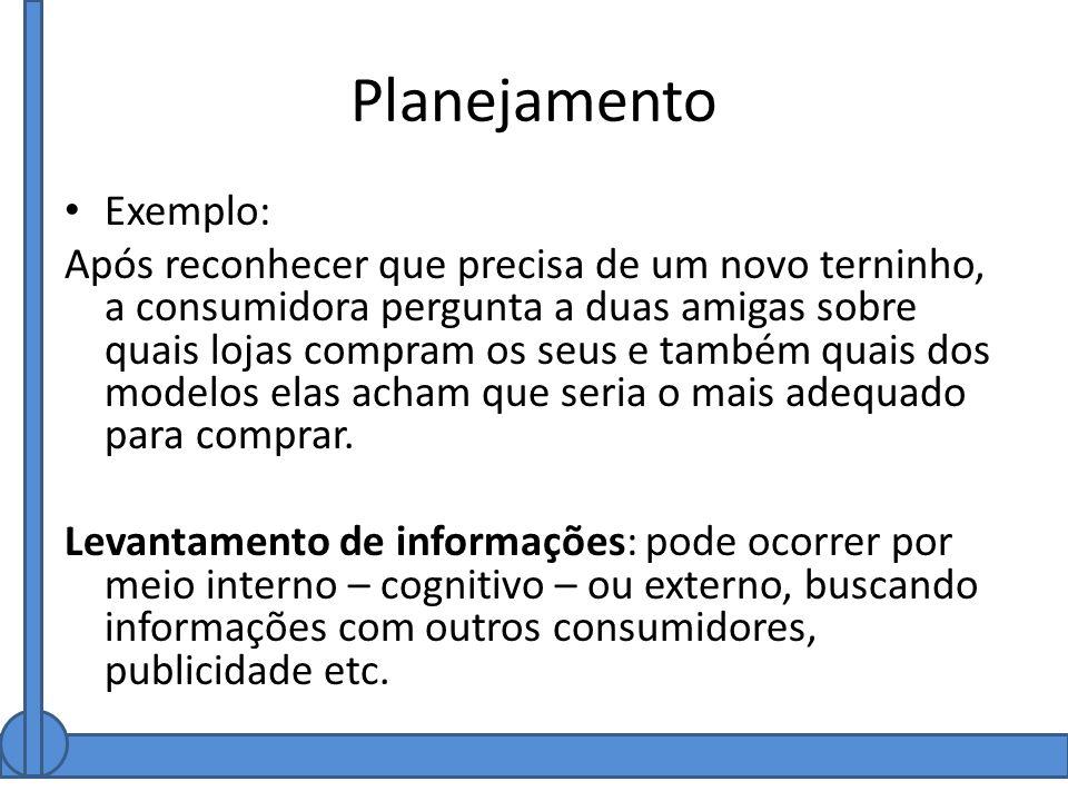 Planejamento Exemplo: