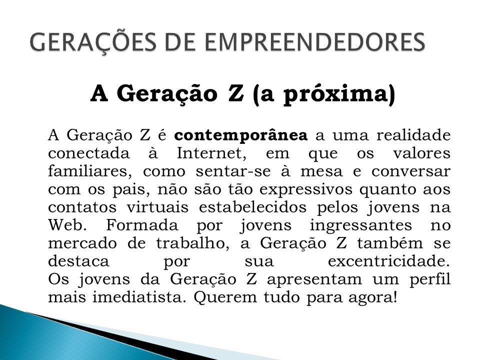 GERAÇÕES DE EMPREENDEDORES