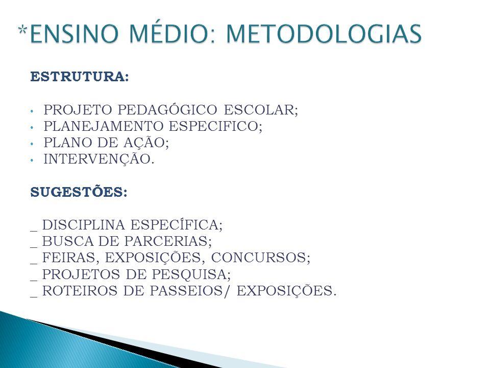*ENSINO MÉDIO: METODOLOGIAS