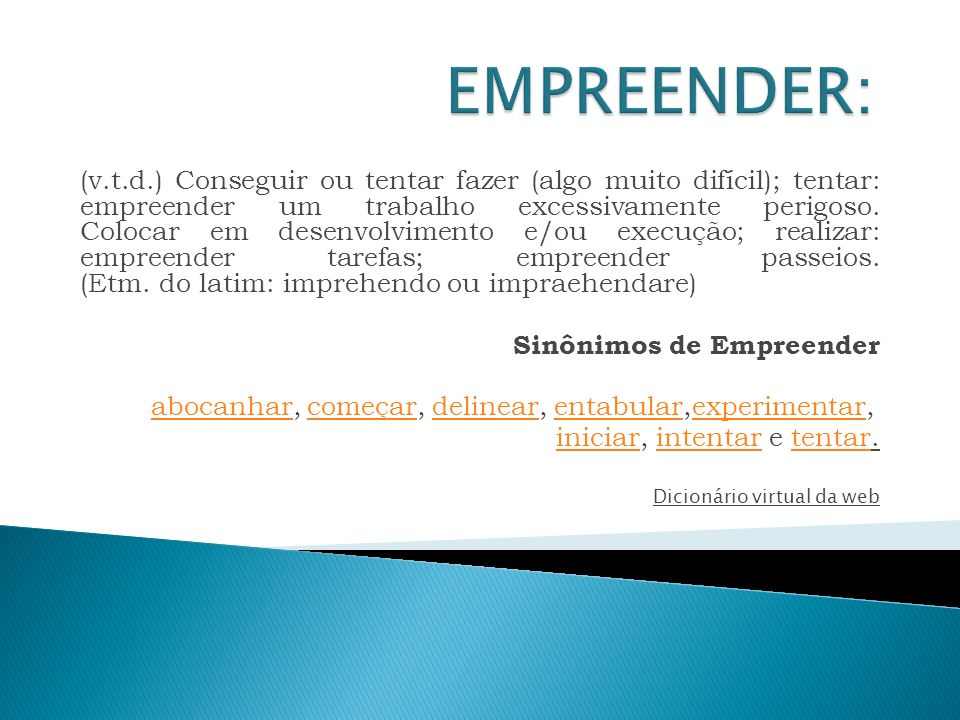 EMPREENDER: