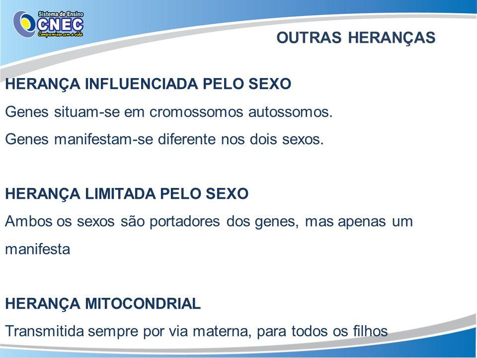 OUTRAS HERANÇAS HERANÇA INFLUENCIADA PELO SEXO
