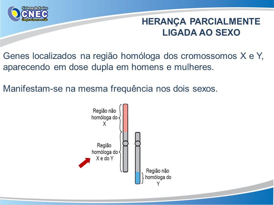 HERANÇA PARCIALMENTE LIGADA AO SEXO