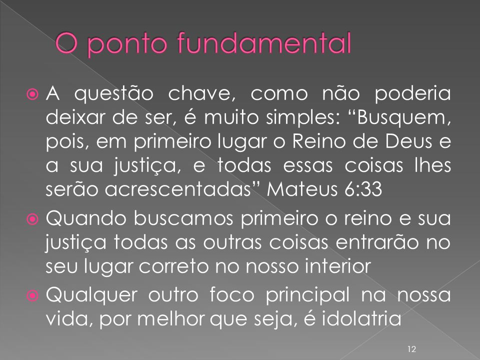 O ponto fundamental