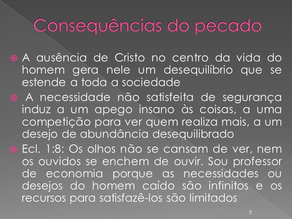 Consequências do pecado