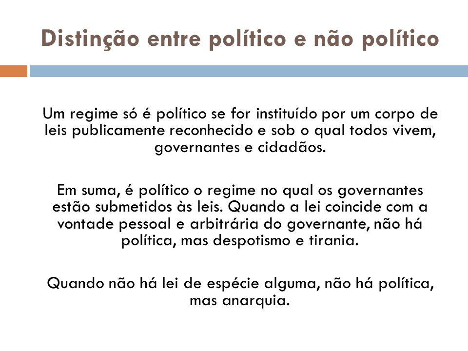 Distinção entre político e não político
