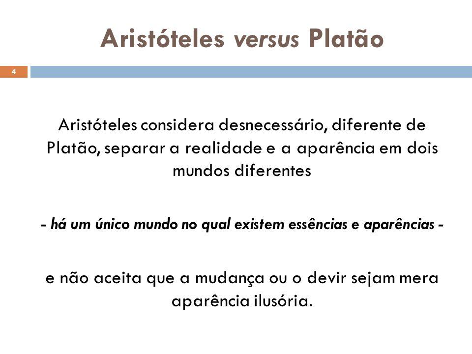 Aristóteles versus Platão