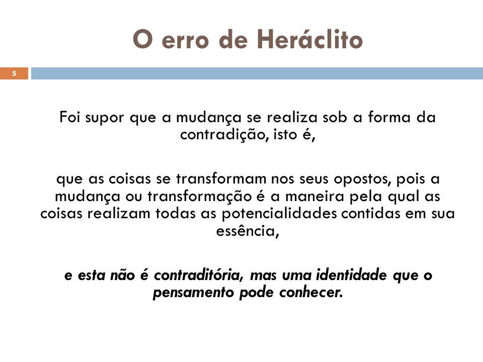 O erro de Heráclito