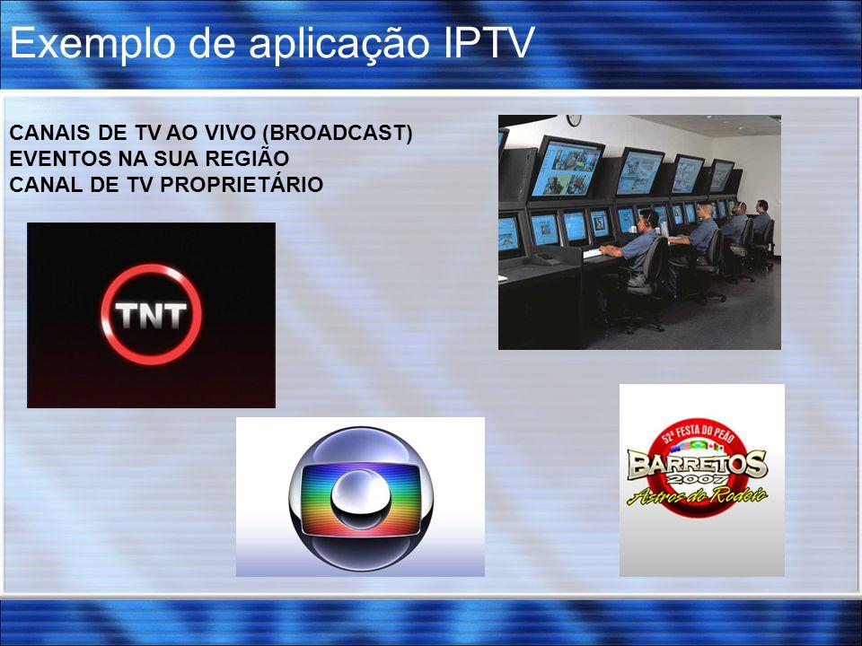 Exemplo de aplicação IPTV