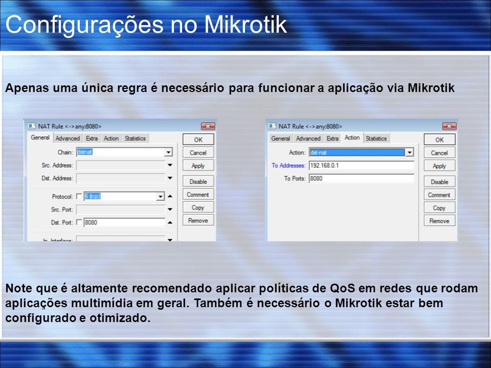 Configurações no Mikrotik