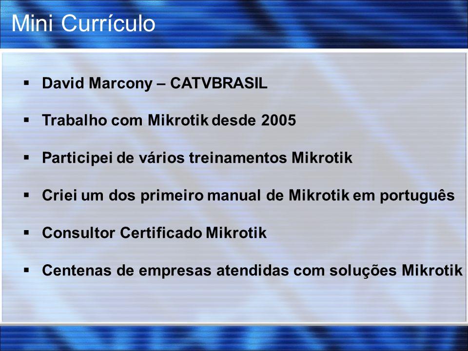 Mini Currículo David Marcony – CATVBRASIL