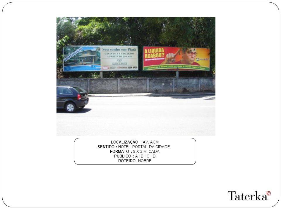 SENTIDO : HOTEL PORTAL DA CIDADE