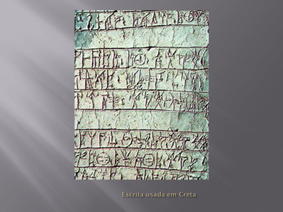 Escrita usada em Creta