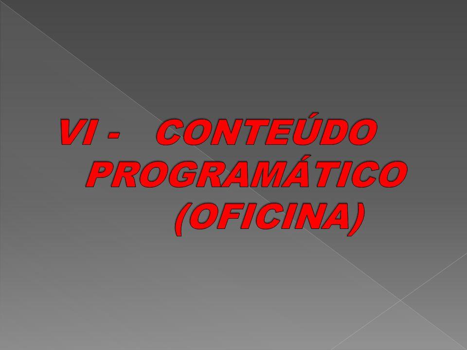 VI - CONTEÚDO PROGRAMÁTICO (OFICINA)