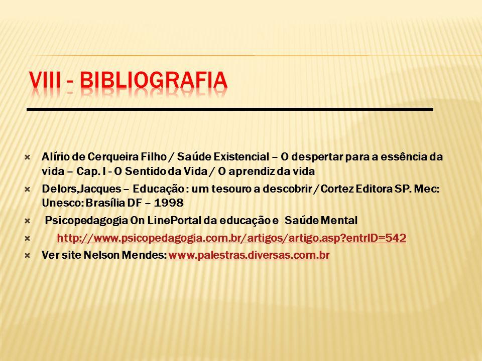 VIII - BIBLIOGRAFIA