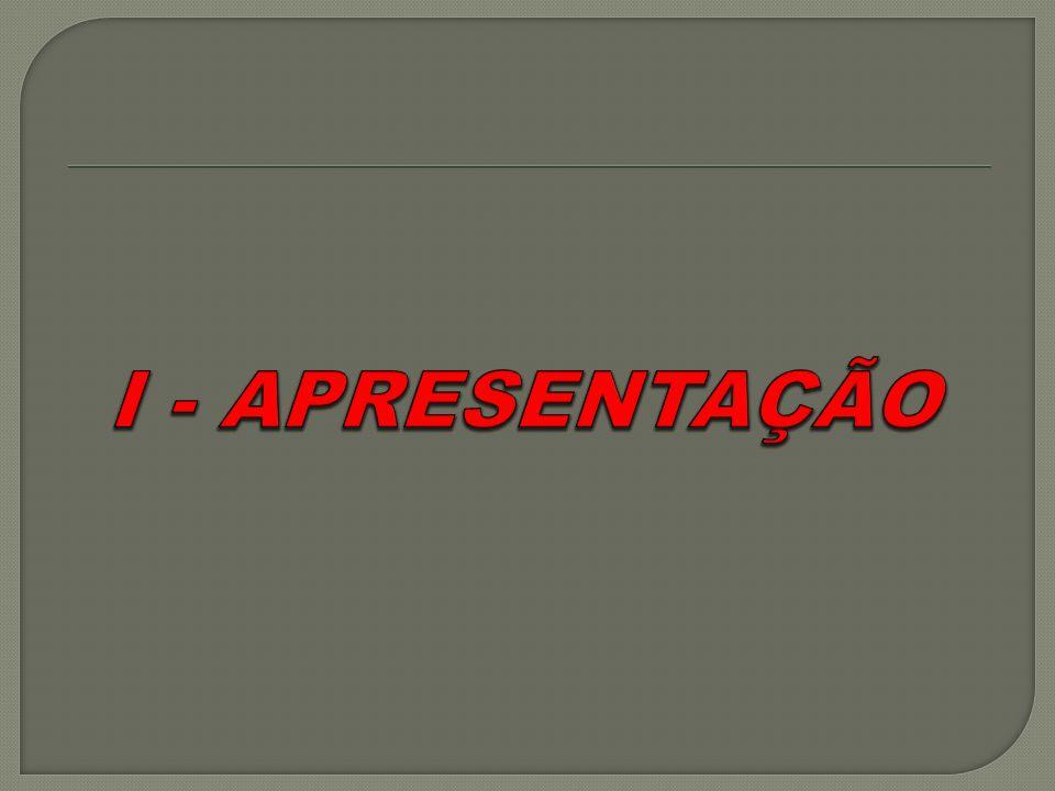 I - APRESENTAÇÃO
