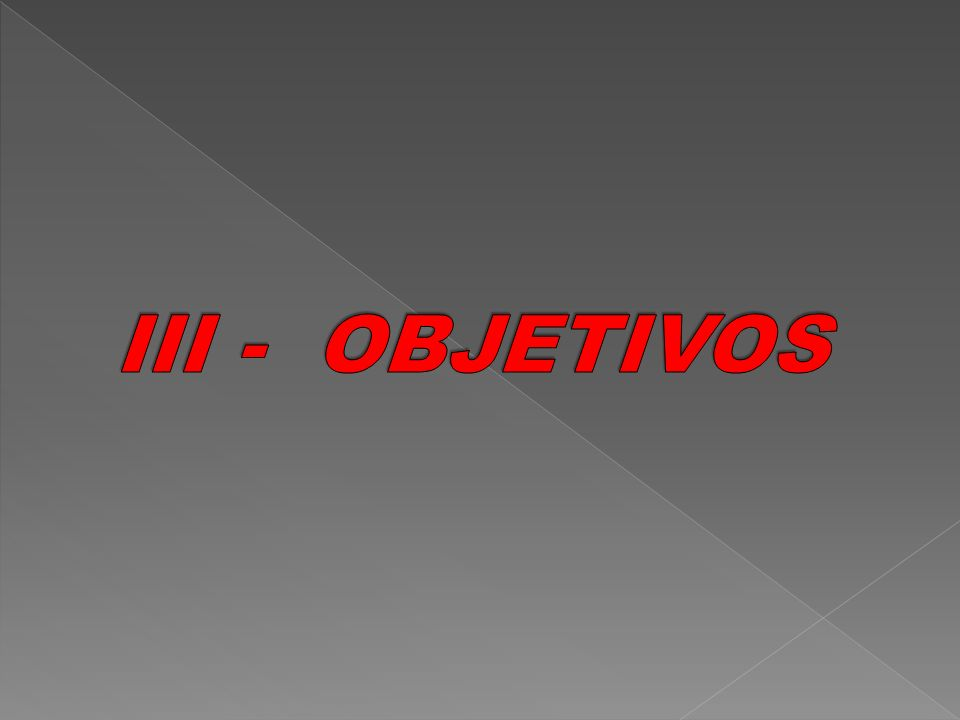 III - OBJETIVOS