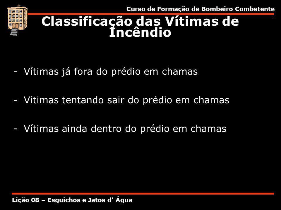 Classificação das Vítimas de Incêndio