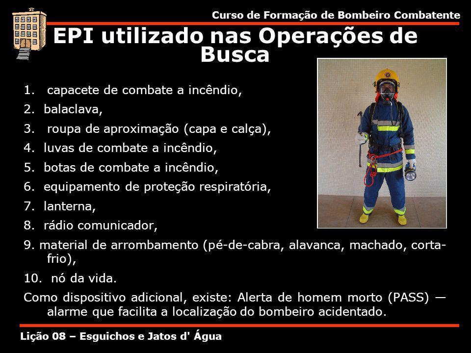 EPI utilizado nas Operações de Busca