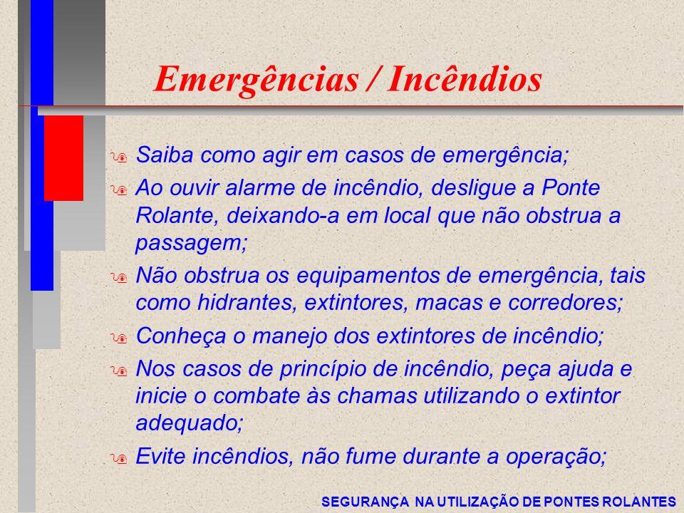 Emergências / Incêndios