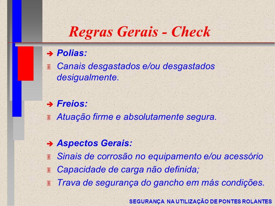 Regras Gerais - Check Polias: