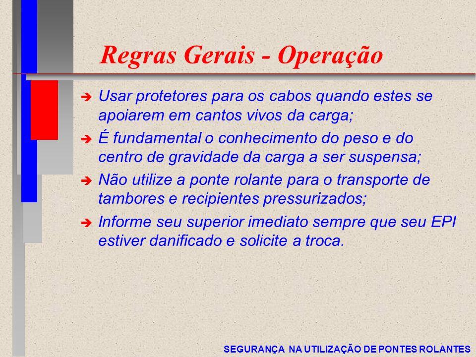 Regras Gerais - Operação