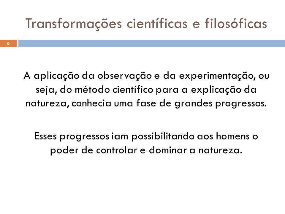 Transformações científicas e filosóficas