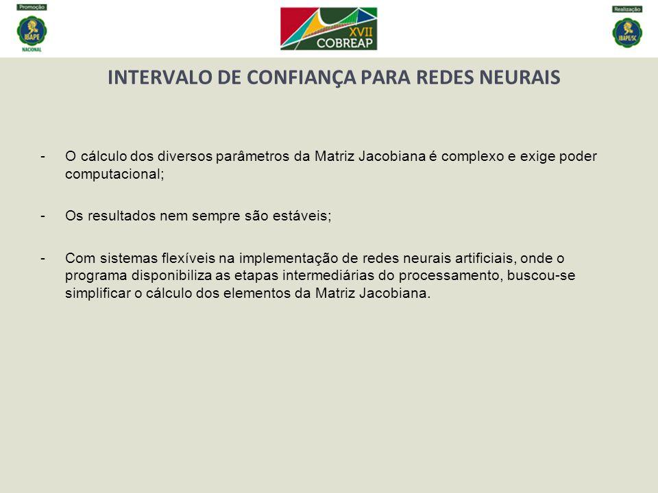 INTERVALO DE CONFIANÇA PARA REDES NEURAIS