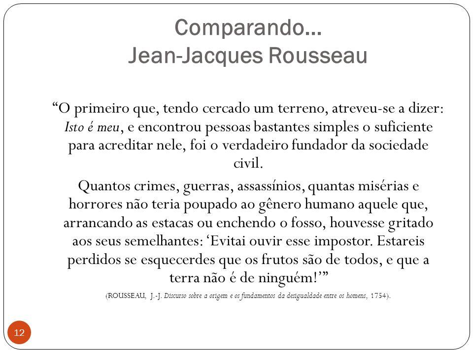Comparando... Jean-Jacques Rousseau