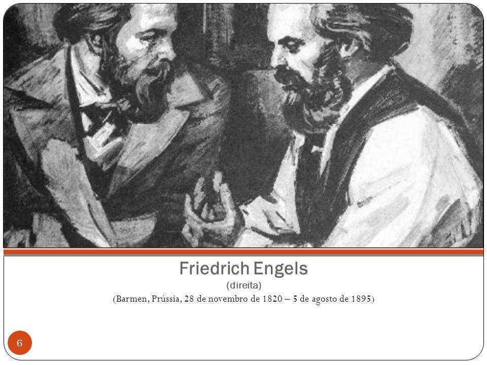 Friedrich Engels (direita)