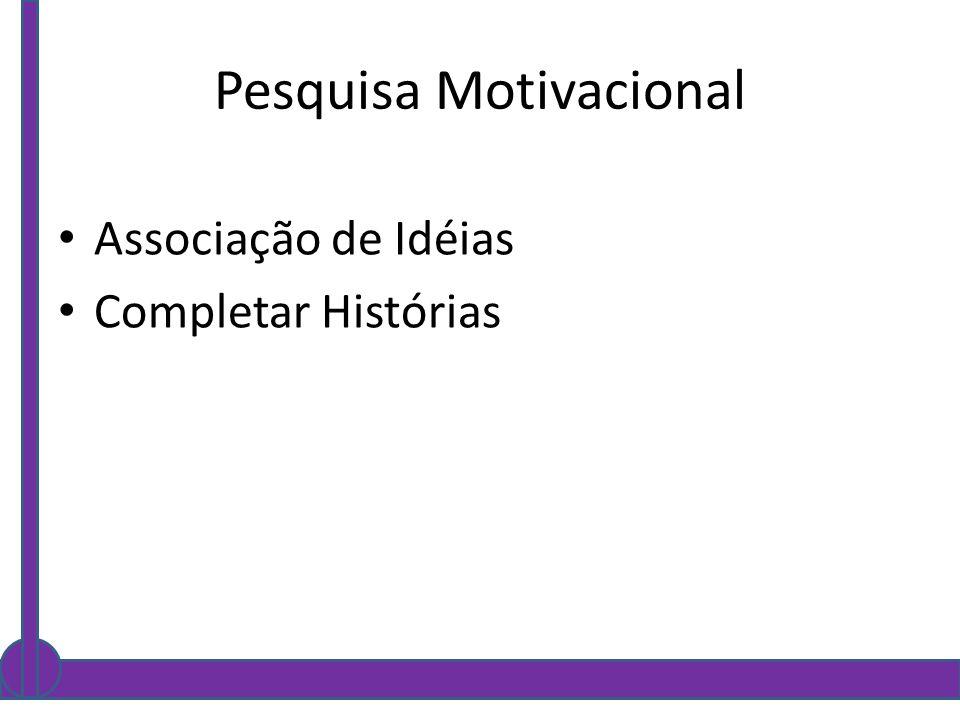 Pesquisa Motivacional
