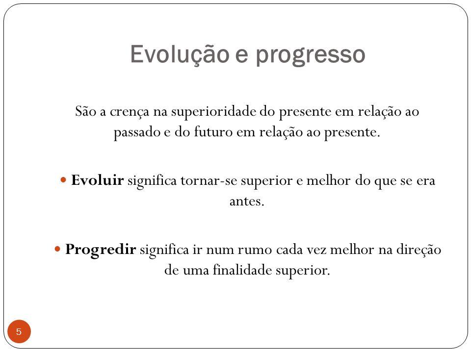 Evoluir significa tornar-se superior e melhor do que se era antes.