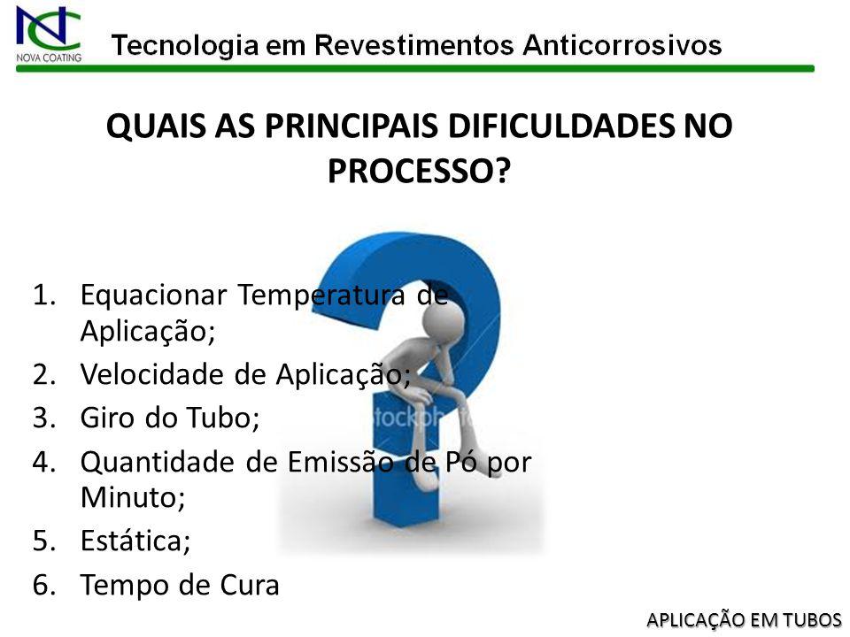 QUAIS AS PRINCIPAIS DIFICULDADES NO PROCESSO
