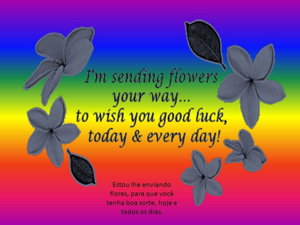 Estou lhe enviando flores, para que você tenha boa sorte, hoje e todos os dias.