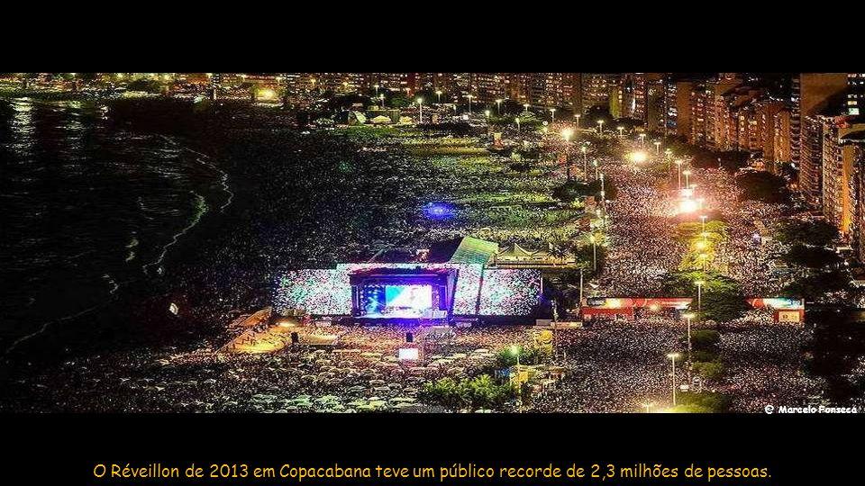@ Marcelo Fonseca O Réveillon de 2013 em Copacabana teve um público recorde de 2,3 milhões de pessoas.