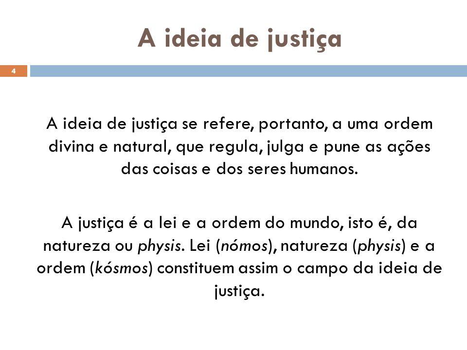 A ideia de justiça